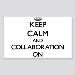 Keep Calm and Collaboration ON Sticker