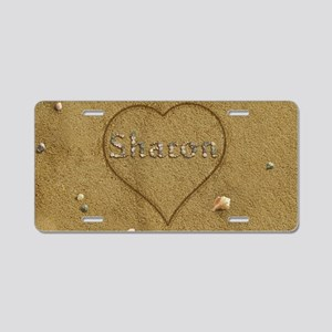 Sharon Beach Love Aluminum License Plate