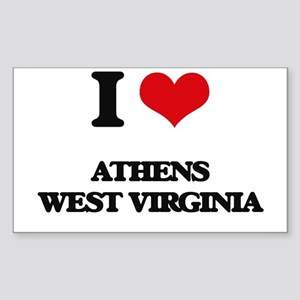 I love Athens West Virginia Sticker