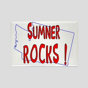 Sumner Rocks ! Rectangle Magnet