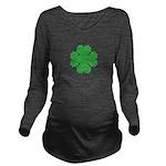 8 Bit Clover Long Sleeve Maternity T-Shirt