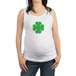 8 Bit Clover Maternity Tank Top