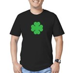 8 Bit Clover Men's Fitted T-Shirt (dark)