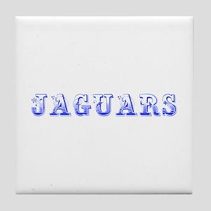 Jaguars-Max blue 400 Tile Coaster