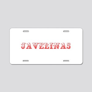 Javelinas-Max red 400 Aluminum License Plate