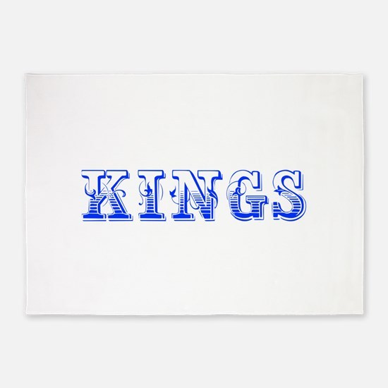 kings-Max blue 400 5'x7'Area Rug