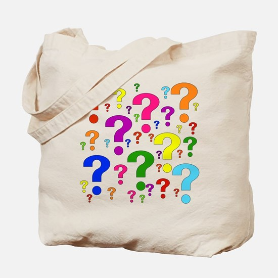 Rainbow Question Marks Tote Bag