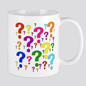 Rainbow Question Marks Mug