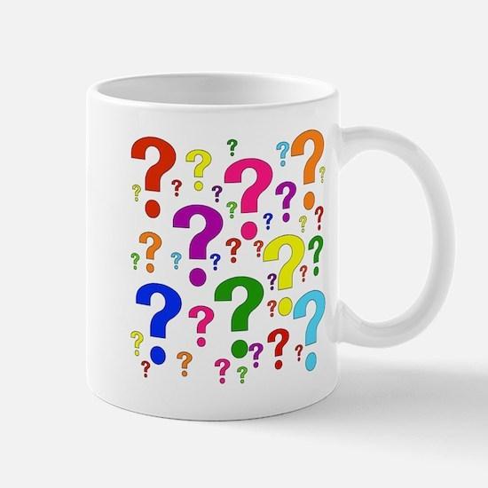 Rainbow Question Marks Mug