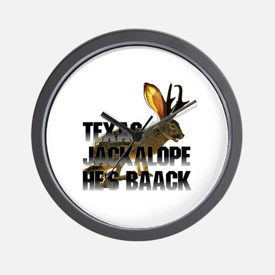 Texas Jackalope Wall Clock