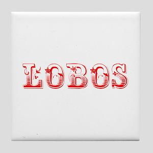Lobos-Max red 400 Tile Coaster