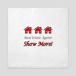 Real Estate Agents Show More! Queen Duvet