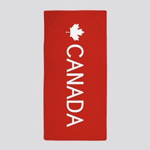 Canada (White Maple Leaf) Beach Towel