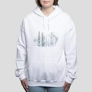 Winter Trees Women's Hooded Sweatshirt