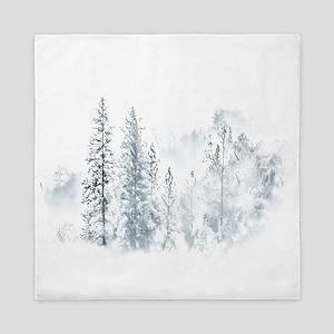 Winter Trees Queen Duvet