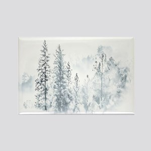 Winter Trees Rectangle Magnet