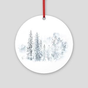 Winter Trees Ornament (Round)