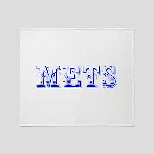 mets-Max blue 400 Throw Blanket