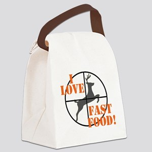 I Love Fast Food Canvas Lunch Bag
