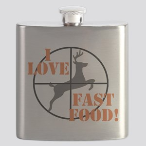 I Love Fast Food Flask