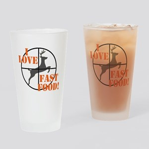 I Love Fast Food Drinking Glass