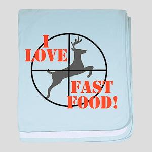 I Love Fast Food baby blanket