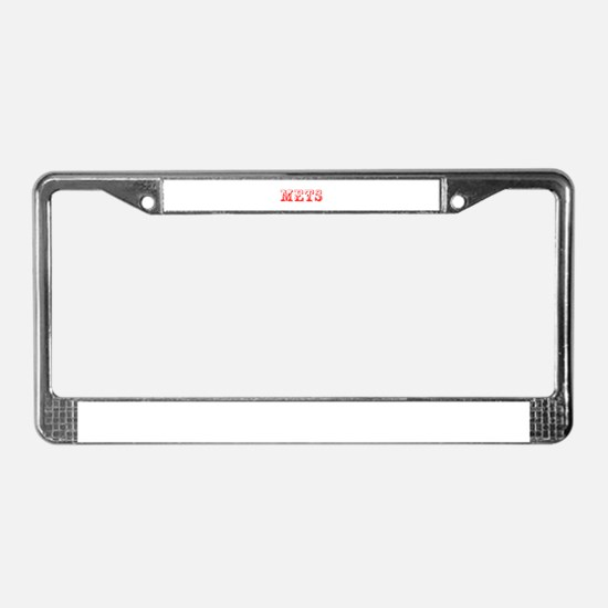 mets-Max red 400 License Plate Frame