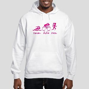 Swim Bike Run (Girl) Hooded Sweatshirt