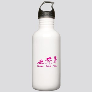 Swim Bike Run (Girl) Stainless Water Bottle 1.0L