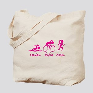 Swim Bike Run (Girl) Tote Bag