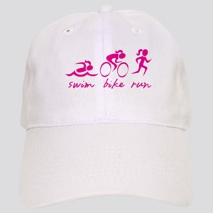 Swim Bike Run (Girl) Cap