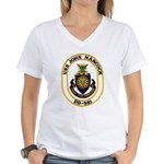 USS JOHN HANCOCK Women's V-Neck T-Shirt