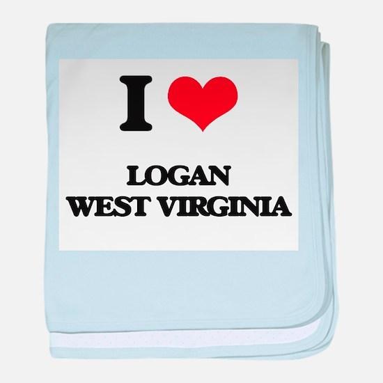 I love Logan West Virginia baby blanket