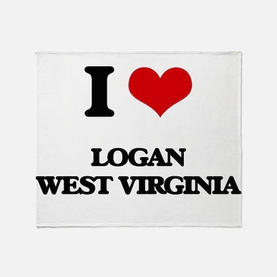 I love Logan West Virginia Throw Blanket
