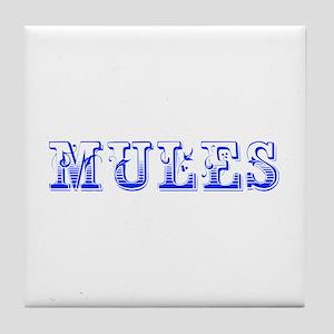Mules-Max blue 400 Tile Coaster