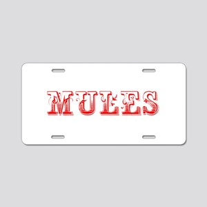Mules-Max red 400 Aluminum License Plate