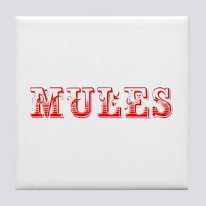 Mules-Max red 400 Tile Coaster