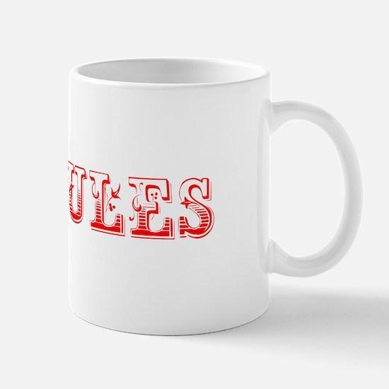 Mules-Max red 400 Mugs