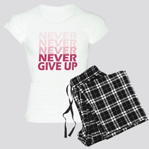Never Give Up Pink Light Women's Light Pajamas