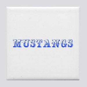 Mustangs-Max blue 400 Tile Coaster