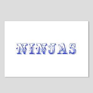 ninjas-Max blue 400 Postcards (Package of 8)