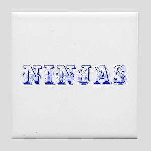 ninjas-Max blue 400 Tile Coaster