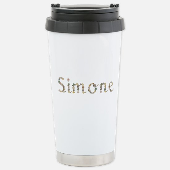 Simone Seashells Ceramic Travel Mug