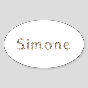 Simone Seashells Oval Sticker