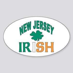 New jersey irish Oval Sticker