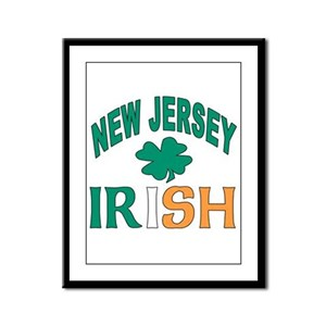 New jersey irish Framed Panel Print