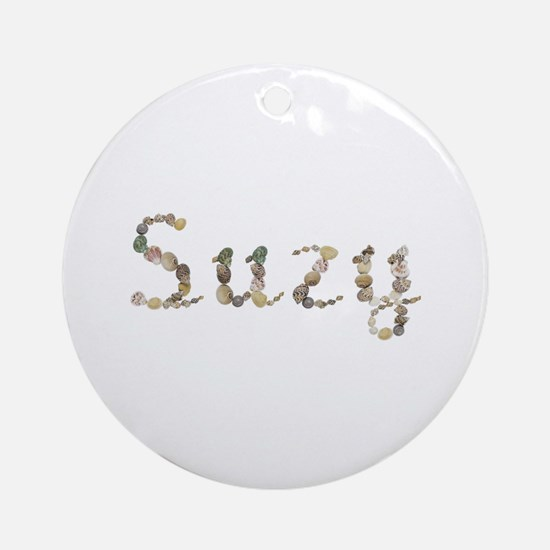 Suzy Seashells Round Ornament