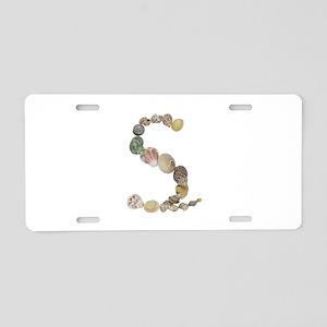 S Seashells Aluminum License Plate