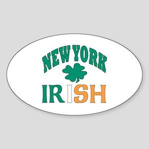 New York irish Oval Sticker