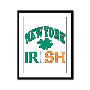 New York irish Framed Panel Print